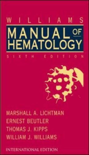 9780071124591: Williams Clinical Manual of Hematology