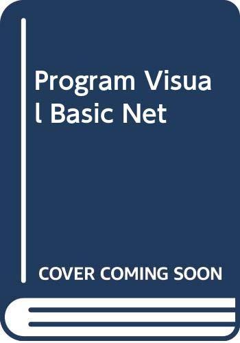 9780071124775: Program Visual Basic Net