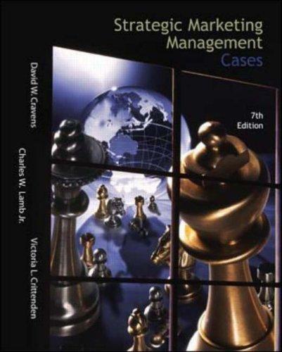 9780071124911: Strategic Marketing Management Cases (Irwin/McGraw-Hill Series in Marketing)
