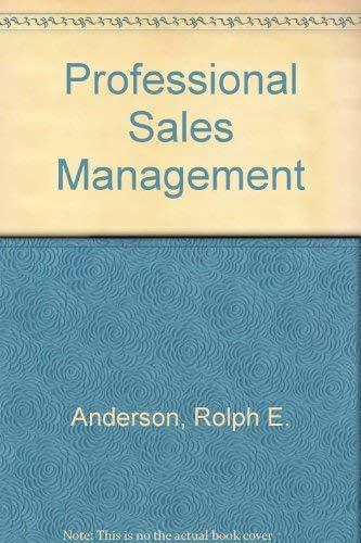 9780071125253: Professional Sales Management