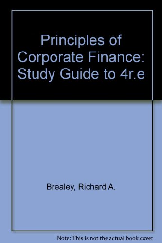 9780071125529: Principles of Corporate Finance: Study Guide to 4r.e