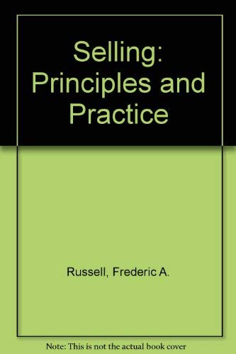 9780071125598: Selling: Principles and Practice