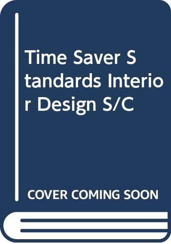 9780071125895: Time Saver Standards Interior Design S/C