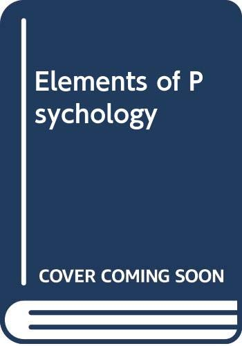 9780071126137: Elements of Psychology