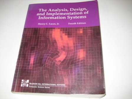 9780071126861: Analysis, Design and Implementation of Information Systems
