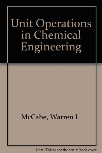 9780071127219: Unit Operations In Chemical Engineering