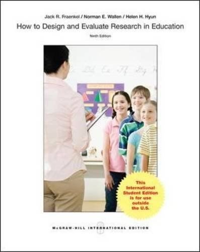 9780071127370: How to Design and Evaluate Research in Education