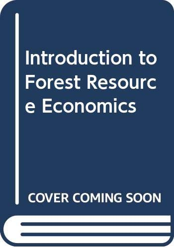 9780071127554: Introduction to Forest Resource Economics (Forest Resources)