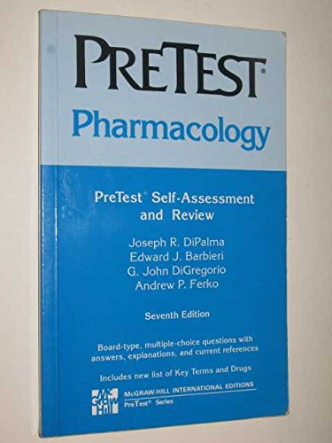 9780071127813: Pharmacology: Pretest Self Assessment and Review (Delete (PreTest: Basic Sciences))