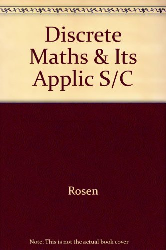 9780071127882: Discrete Maths & Its Applic S/C
