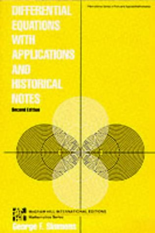 9780071128070: Differential Equations with Applications and Historical Notes (McGraw-Hill International Editions)