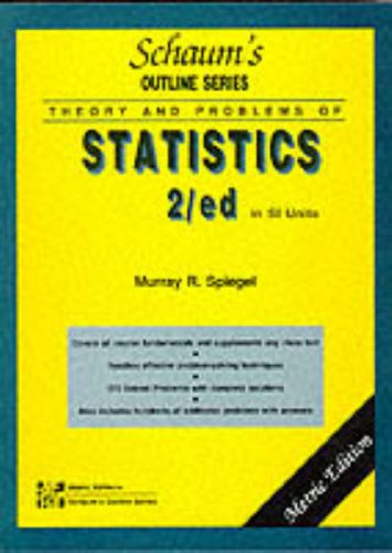 Schaum's Outline of Theory and problems of Statistics (0071128204) by Murray r. Spiegel