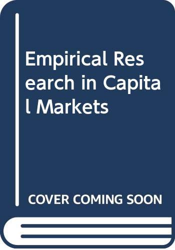 9780071128278: Empirical Research in Capital Markets