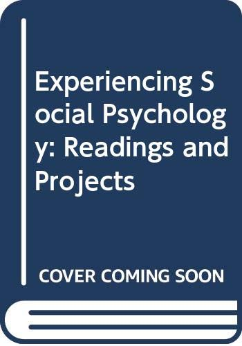 9780071128759: Experiencing Social Psychology: Readings and Projects