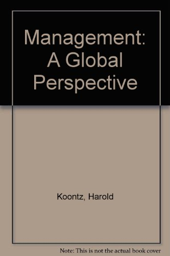 Management: A Global Perspective: Harold Koontz, Cyril
