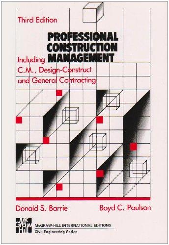 9780071129176: Professional Construction Management