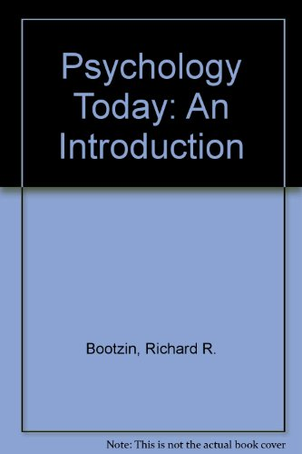 9780071129190: Psychology Today: An Introduction