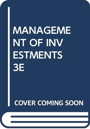 9780071129558: Management of Investments