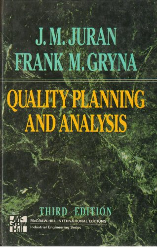 9780071129923: Quality Planning and Analysis
