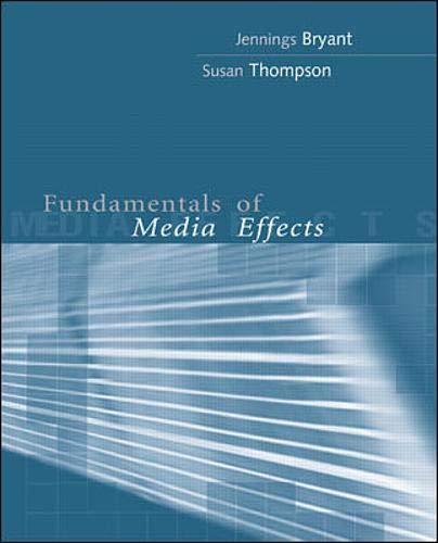 9780071130073: Fundamentals of Media Effects