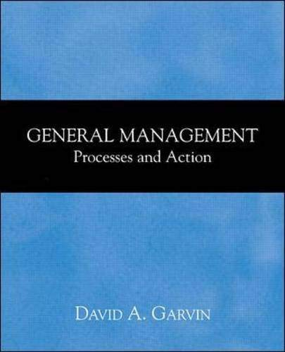 9780071130257: General Management:  Processes and Action