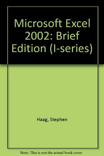 9780071130288: Microsoft Excel 2002: Brief Edition (I-series)