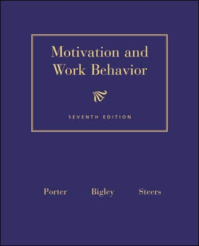 9780071131025: Motivation and Work Behavior (Mcgraw-Hill Series in Management)