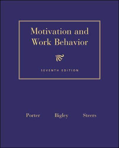 9780071131025: Motivation and Work Behavior (Mcgraw-Hill Series in Management)