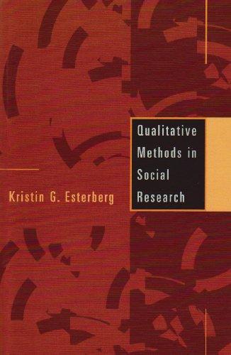 Qualitative Methods in Social Research: Esterberg, Kristin G.