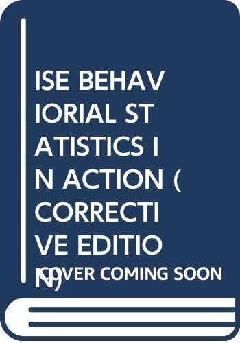 9780071131315: Behavioral Statistics in Action