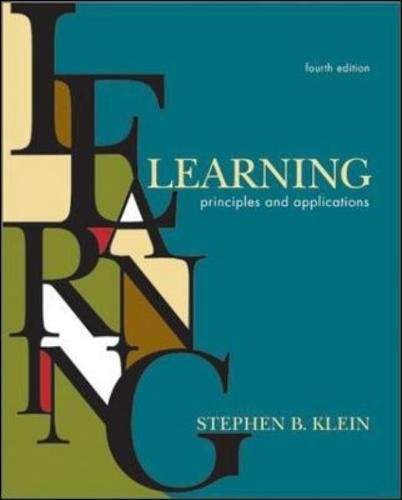 9780071131438: Learning: Principles and Applications