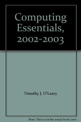 9780071131506: Computing Essentials, 2002-2003
