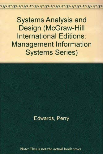 9780071132800: Systems Analysis and Design
