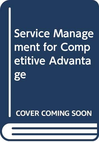 9780071133128: Service Management for Competitive Advantage