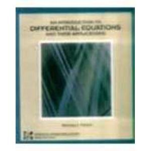 9780071133159: Introduction to Differential Equations and Their Applications