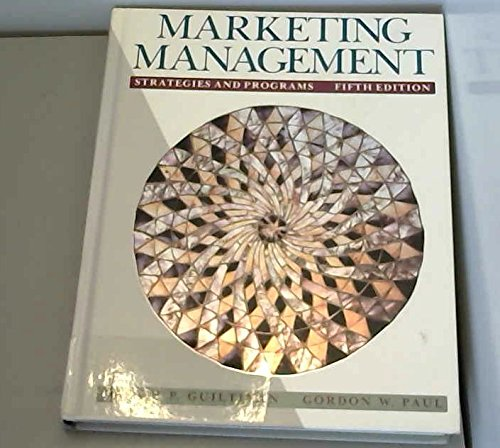 9780071133227: Marketing Management: Strategies and Programs