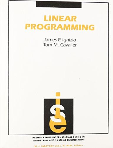 9780071133302: Linear Programming