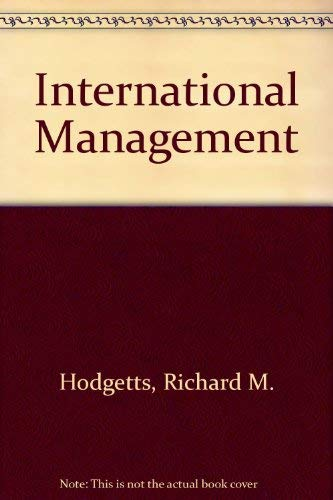9780071133463: INTERNATIONAL MANAGEMENT