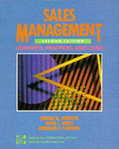 9780071134026: Sales Management: Concepts, Practices and Cases (McGraw-Hill International Editions: Marketing & Advertising Series)