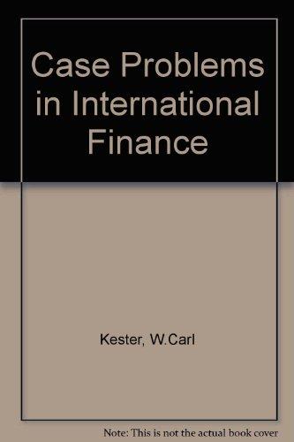 9780071134231: Case Problems in International Finance