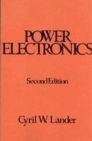 Power Electronics Power Electronics, Lander Cyril W., New, 9780071134453 , Figures