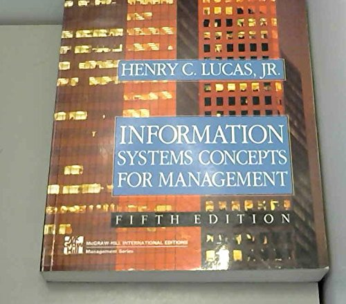 9780071134552: Information Systems Concepts for Management.
