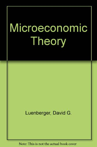 9780071134651: Microeconomic Theory