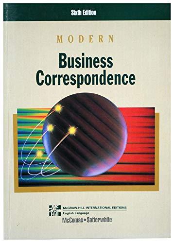 9780071134897: Modern Business Correspondence