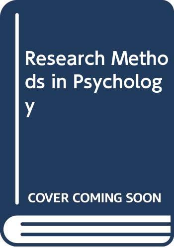 9780071136877: Research Methods in Psychology