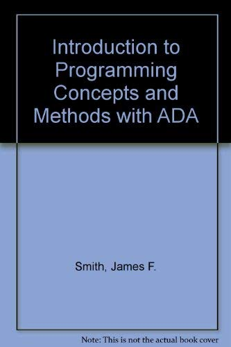 9780071136945: Introduction to Programming Concepts and Methods with ADA
