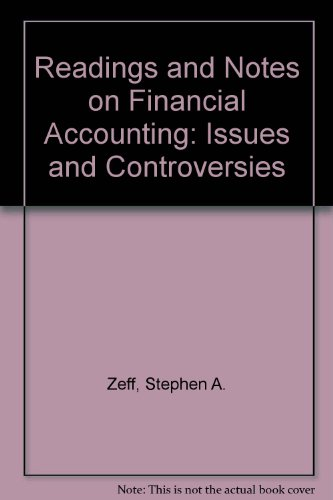 9780071137812: Readings and Notes on Financial Accounting. Issues and Controversies