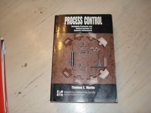 9780071138161 Process Control Designing Processes And Control Systems For Dynamic Performance Abebooks Marlin Thomas E 0071138161