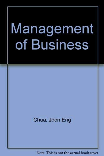 9780071138284: Management of Business