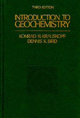 9780071139298: Introduction to Geochemistry -Ise (McGraw-Hill International Editions Series)